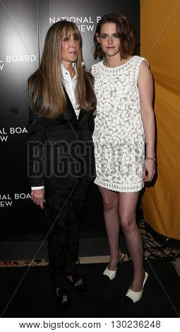 NEW YORK-JAN 5: NBR President Annie Schulhof (L) and actress Kristen Stewart attend the 2015 National Board of Review Gala at Cipriani 42nd Street on January 5, 2016 in New York City.