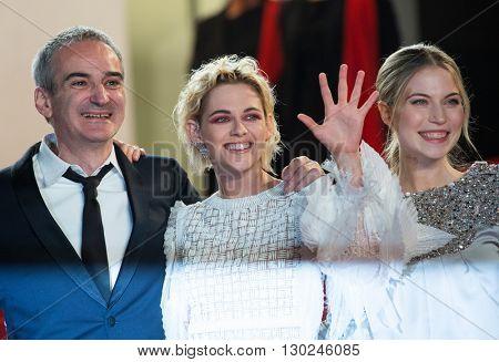 S Bouaziz, O. Assayas,  Kristen Stewart, Nora von Waldstaetten, A. Danielsen Lie,  'Personal Shopper' premiere at the 69th Festival de Cannes. May 17, 2016  Cannes, France