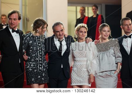 Sigrid Bouaziz, Olivier Assayas,  Kristen Stewart, Nora von Waldstaetten, A. Danielsen Lie,  'Personal Shopper' premiere at the 69th Festival de Cannes. May 17, 2016  Cannes, France