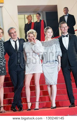 Sigrid Bouaziz, Olivier Assayas, Kristen Stewart, Nora von Waldstaetten , Anders Danielsen Lie,  'Personal Shopper' premiere at the 69th Festival de Cannes. May 17, 2016  Cannes, France