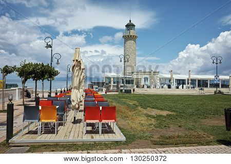 Amazing view of Lighthouse in Patras, Peloponnese, Western Greece