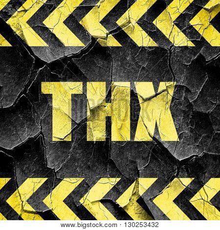 thx internet slang, black and yellow rough hazard stripes
