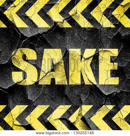 sake, black and yellow rough hazard stripes