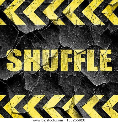 shuffle dance, black and yellow rough hazard stripes