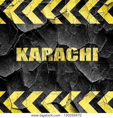 karachi, black and yellow rough hazard stripes