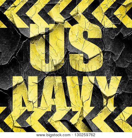 us navy, black and yellow rough hazard stripes