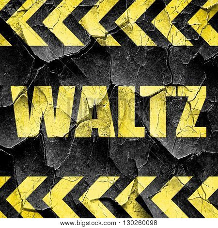 waltz dance, black and yellow rough hazard stripes