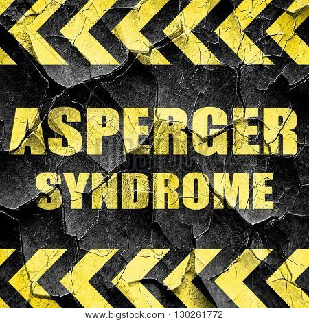 Asperger syndrome background, black and yellow rough hazard stri