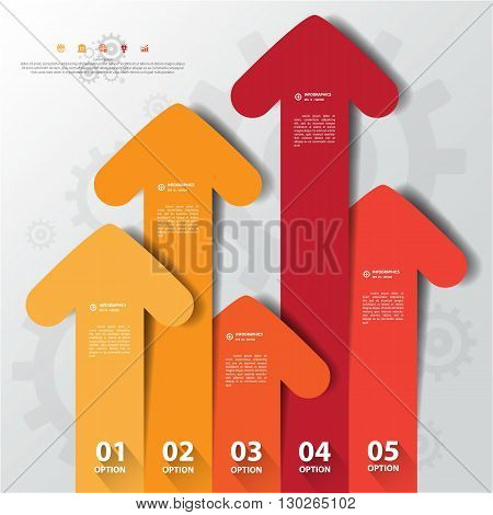 Design Flat Shadow Arrow Banners /graphic Or Website .vector/eps10