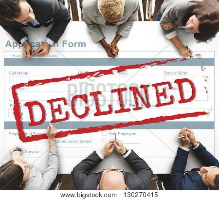 Declined Rejected Disagreement Rejection Concept