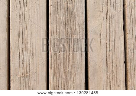 Wooden floor in the beach jetty. Macro photo
