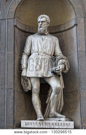 Florence Uffizi Statue Benvenuto Cellini