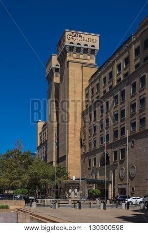 Johannesburg, South Africa 28 March 2016 The MichelAngelo Hotel in Sandton Johannesburg is one of the city's best hotel's.