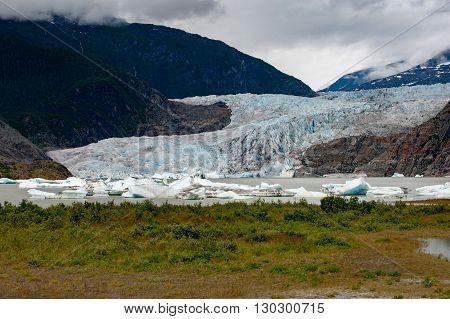 Mendenhall Glacier Landscape Panorama View