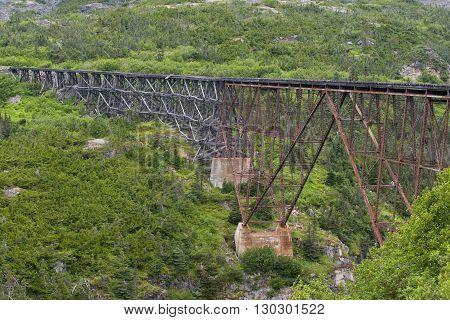 Yukon Gold Rush old Train railroad detail close