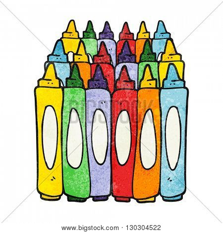 freehand drawn texture cartoon crayons