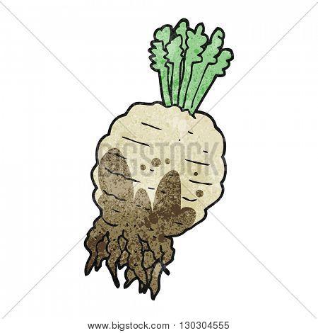freehand drawn texture cartoon muddy turnip