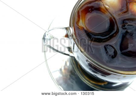 black ice coffee in clear cup poster
