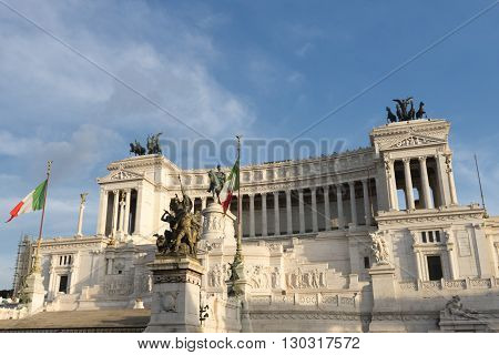Rome Unknow Soldier Building At Sunset