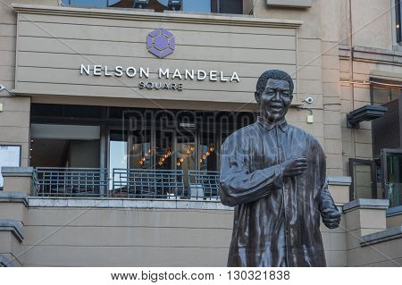 Sandton Johannesburg 27 March 2016 The Nelson Mandela Square is a public space and shopping area