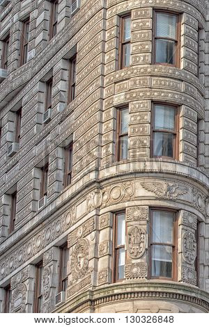 New York - Usa - 11 June 2015 Flatiron Building Detail