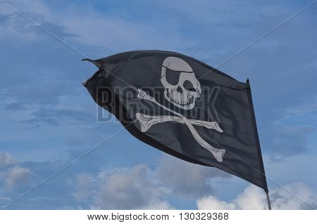 Waving Pirate Flag Jolly Roger