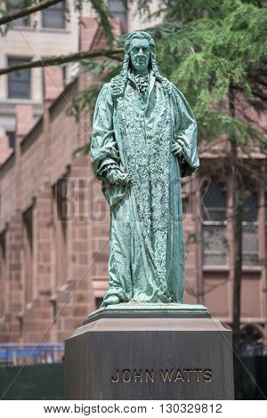 John Watts Statue In New York