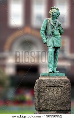 Edvard Grieg Norwegian Composer Copper Statue