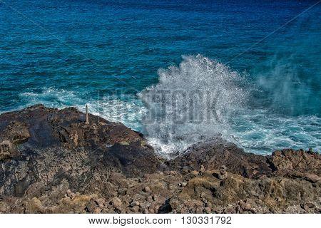 Blow Hole In Hawaii Oahu