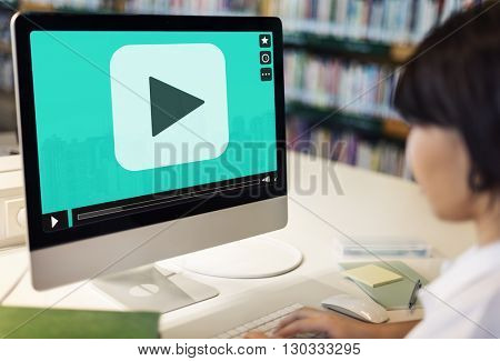 Video Screen Multimedia Technology Education Graphic Concept