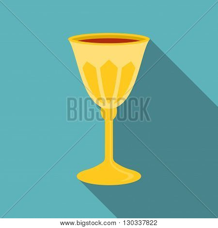 Passover grail icon, flat design with long shadow