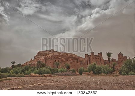 Ait Benhaddou Maroc Location Of Gladiator Movie After A Sand Storm Tempest
