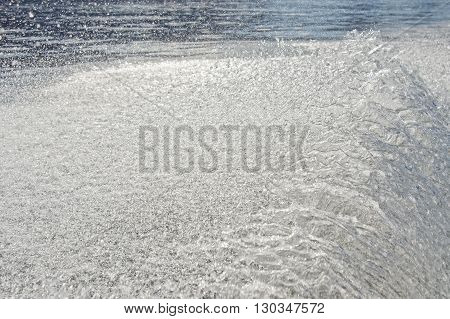 ship wake in pacific ocean mexico bcs