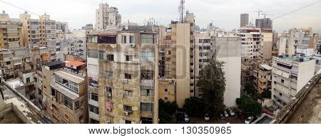 Beirut cityscape, Lebanon. Panoramic view over Beirut