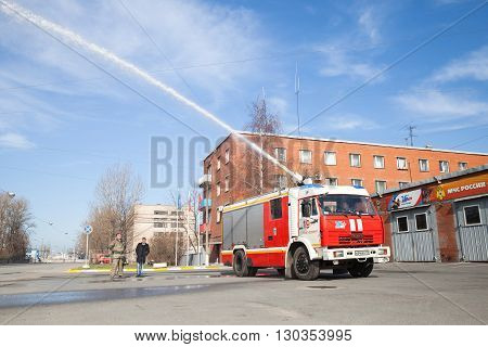 Kamaz Truck 43253 As Russian Fire Engine