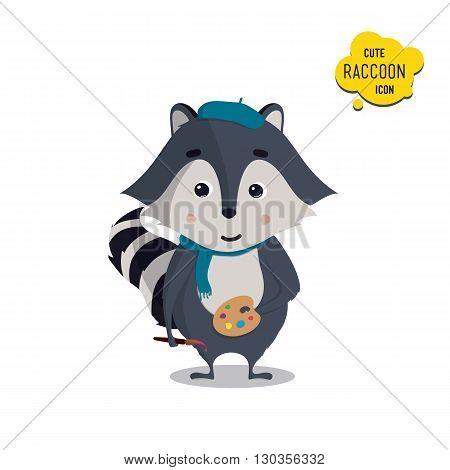 Universal Cute Raccoons Set With Family Raccoon