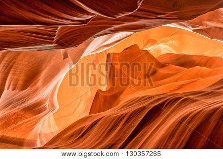 Monument Valley Shape Inside Arizona Antelope Canyon