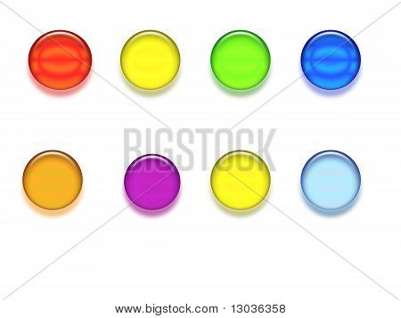 Colored Button Illustration isolated