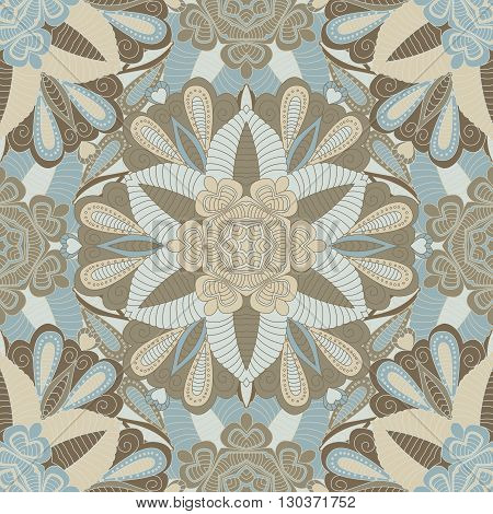 Seamless vector background with mandala. Islam Arabic Indian ottoman style. Background  cover  textile. Design for silk neck scarf kerchief hanky pillow hanky pillow carpet rug