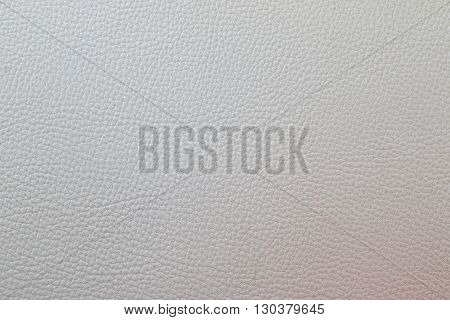 Texture artificial white leather.Close up of white leather. Can be used as a background. poster
