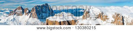 Pordoi Italian Dolomites Panorama Landscape