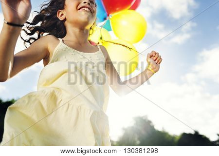 Girl Recreation Happiness Relaxation Concept