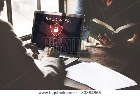 Fraud Scam Phishing Caution Deception Concept