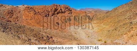 The Eilat mountains look like painted or like fairy land with bright colors changing on each Israel.