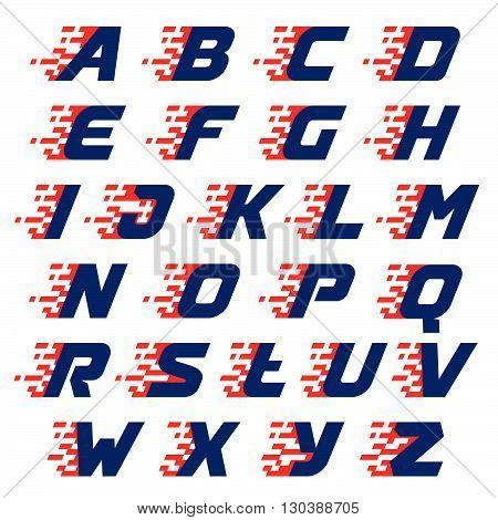 Alphabet With Abstract Checkered Flag