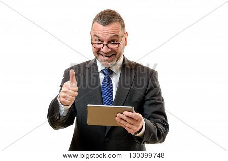 Businessman Signalling His Success And Approval