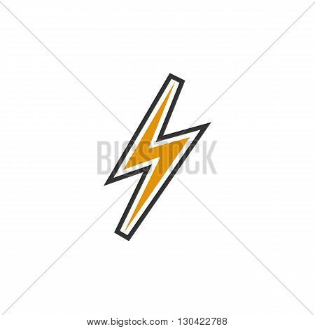 Thunder Icon. Thunder logo. Vector design element. Abstract emblem, graphic design concept. Logotype element for template. Vector illustration on white background - stock vector