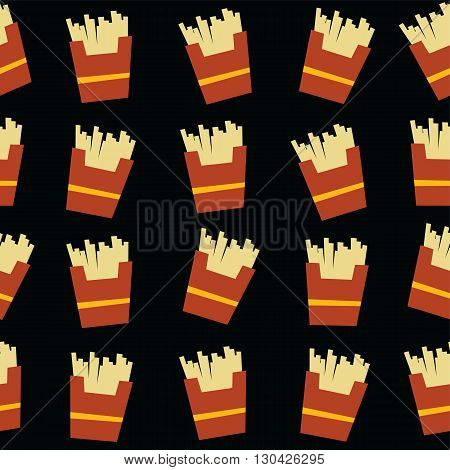 french fries fastfood theme vector art illustration