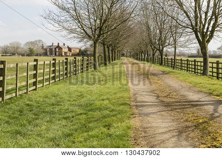An image of a country farm situated in the beautiful countryside of Leicestershire England UK