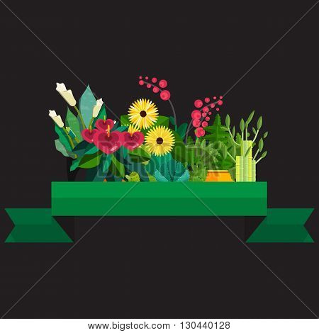Cute Bouquet Flowers Vector Photo Free Trial Bigstock
